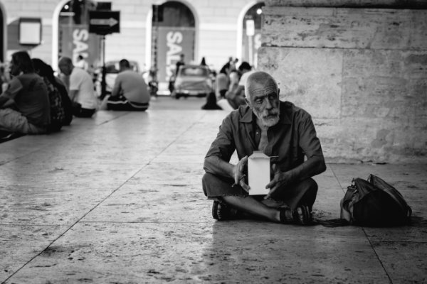 beggar on street