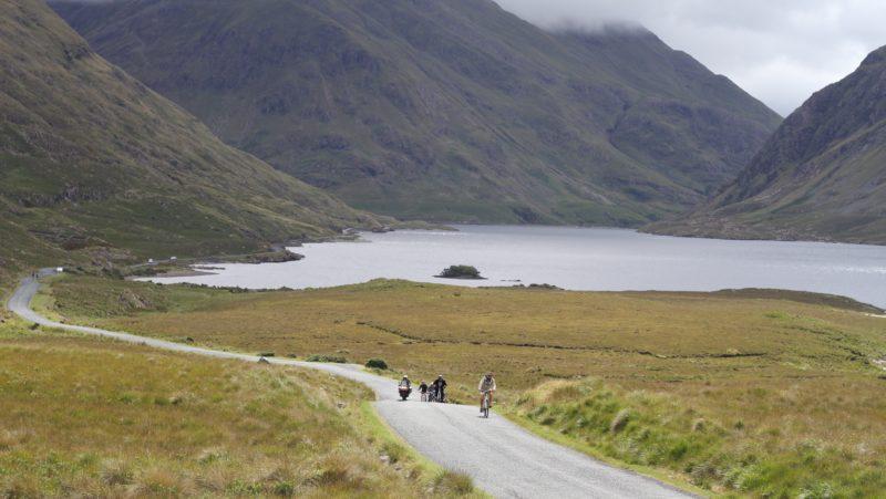 Cycling through the Delphi Valley in Connemara